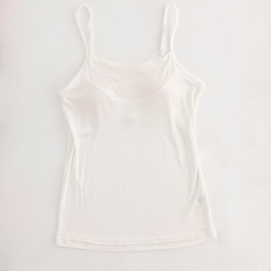 マリーネのシルク肌着 カップ付きキャミソール ホワイト