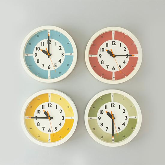 ふんぷんくろっく カラー 壁掛け時計