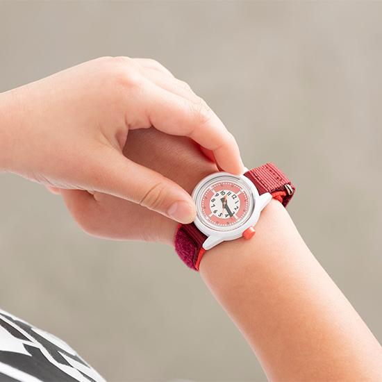 ふんぷんくろっく 腕時計 こども用 レッド