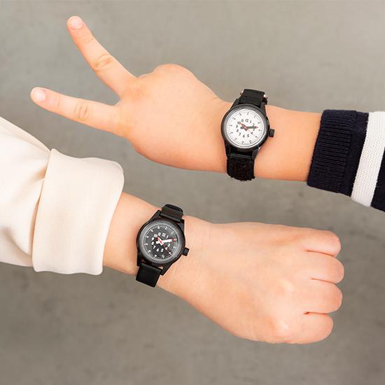 ふんぷんくろっく 腕時計 こども用 ブラック