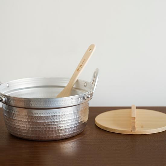 アルミ打出し段付き鍋