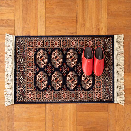 ベルギー製ウィルトン織カーペット ネイビー