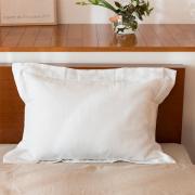 リネン枕カバー額縁式 ホワイト