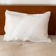 リネン枕カバー 封筒式 ホワイト
