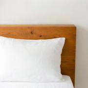 リネンの寝具 枕カバー封筒式 ホワイト