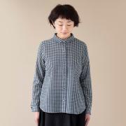 ウールのギンガムシャツ