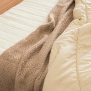 キャメル混 のびふわ毛布