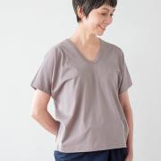 ドレープTシャツ ホワイト グレー