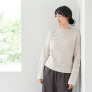 ヘリンボンのセーター