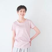 クルーネックTシャツ コーラルピンク