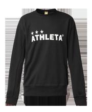 【30%OFF】 ATHLETA(アスレタ) 「スウェットシャツ_ブラック」 大人ウェア 03300