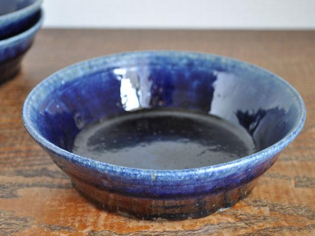 ルリ釉台形鉢-1