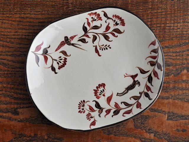 紅型丸角皿-1