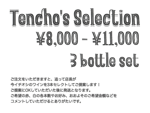 <店長's セレクション> ワイン3本セット