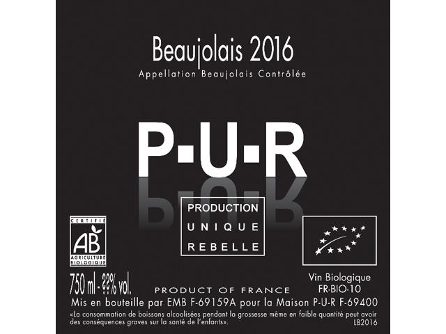 【2017ヌーヴォー】シリル アロンソ & フロリアン ルーズ P-U-R ボージョレ ヌーヴォー 2017 750ml ※お届けは11/16(木)以降となります