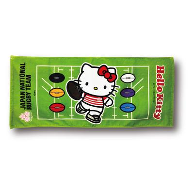 ラグビー日本代表 オフィシャル ハローキティ フェイスタオル・フィールド