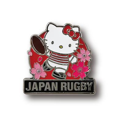 ラグビー日本代表 オフィシャル ハローキティ ピンバッジ・キック