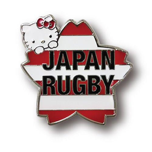 ラグビー日本代表 オフィシャル ハローキティ ピンバッジ・桜ボーダー