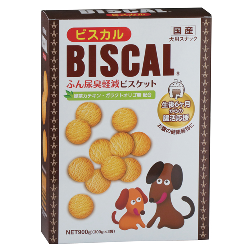 ビスカル 900g (300g×3袋) ふん尿臭を軽減する健康ビスケット 【現代製薬】GENDAI