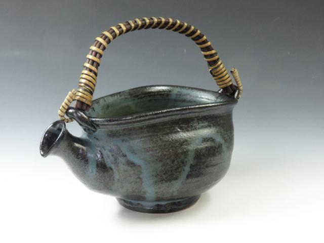 岐阜県のやきもの 小糸焼のつる付き注器