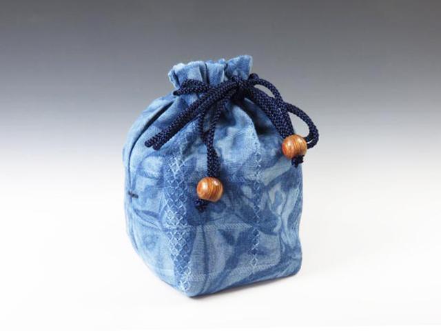 ぐい呑袋(武州正藍染 かご染め)