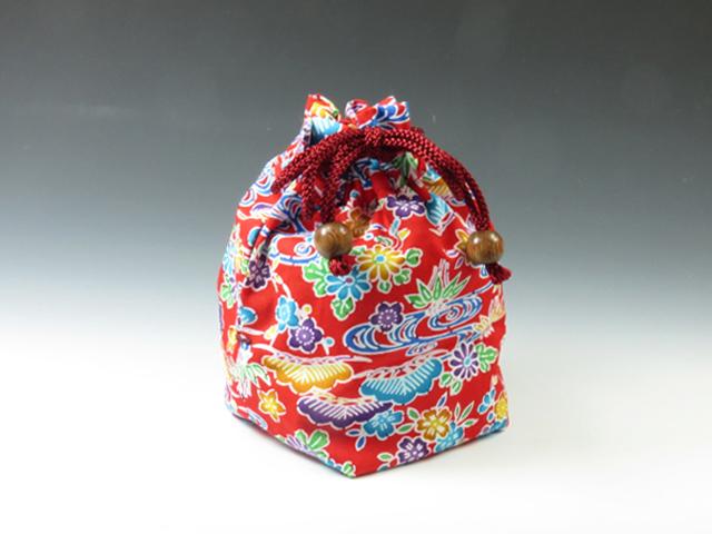 ぐい呑袋(琉球紅型)