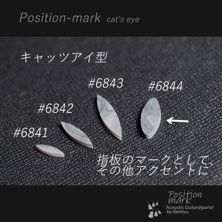 #6844 【ポジションマーク】 メキシコ貝 楕円