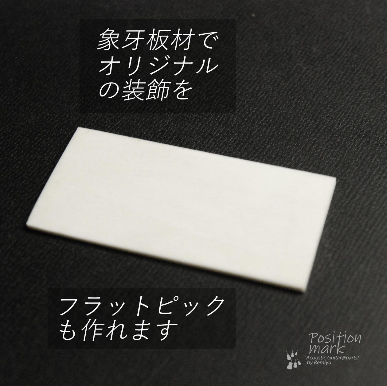 象牙板材 25mmx55mmx厚さ1mm 装飾用 アクセント