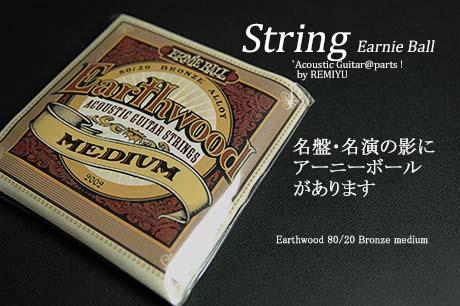 #0642 【弦】 アウトレット  ErnieBall  Earth ブロンズ ミディアム 1セット