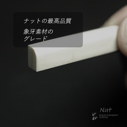 #2409  【ナット】 象牙 カーブ 6mmx45mmx10mm <送料160円ポスト投函>