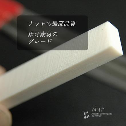 #2413 【ナット】 象牙 6mmx55mmx12mm