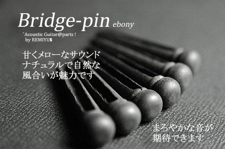 #3001  【ブリッジピン】 エボニー 6本セット