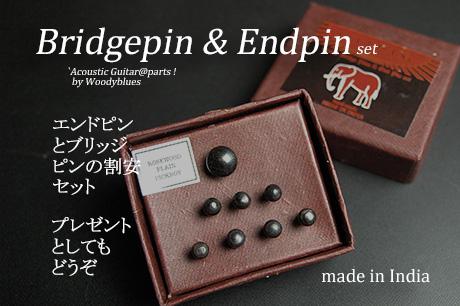 #3018  【ブリッジピン】 BEP-200/RW/P エンドピン付8本セット