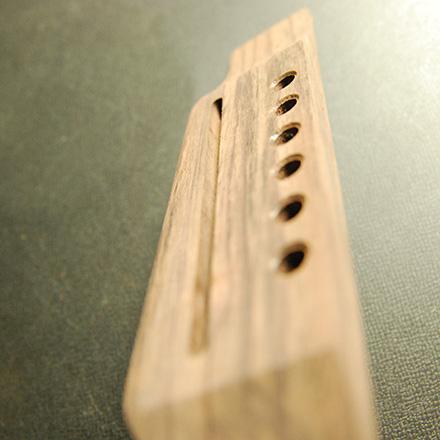 加工済 ギブソンJ45タイプ ローズウッド材 サドル溝あり 外形加工済