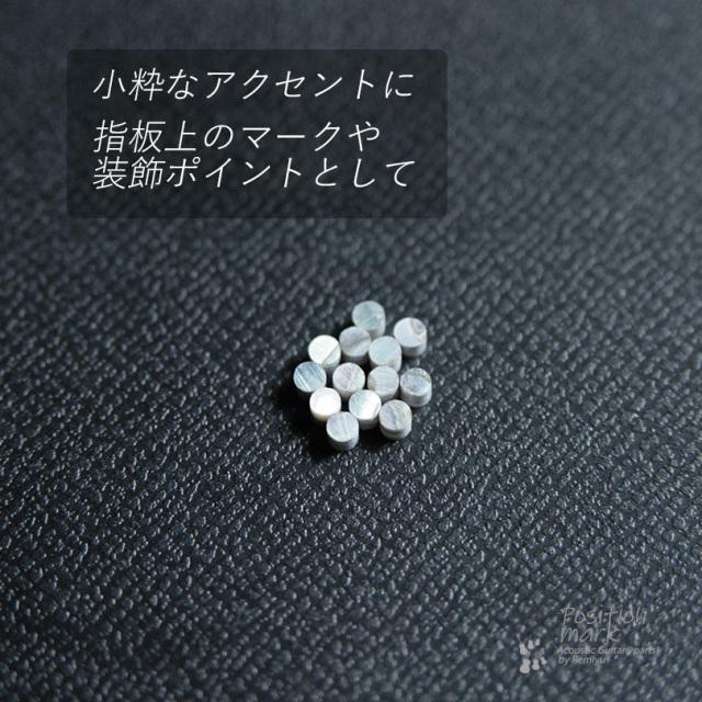 丸2mm メキシコ貝 12個セット 厚さ2mm 装飾用 アクセント