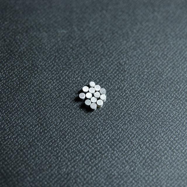 丸2mm 黒蝶貝 12個セット 厚さ2mm 装飾用 アクセント
