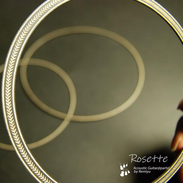 #6907 【ロゼッタ】 ヘリンボーン柄 内径118mm  3点セット サウンドホール周り装飾用 送料160円ポスト投函