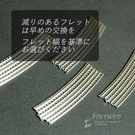 #7204 【フレットワイアー】 スモール24本セット 2.0mmx1.3mmx65mm 送料160円ポスト投函
