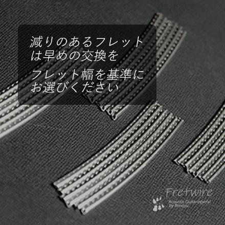 ミディアム24本セット ニッケル 国産 幅2.4mmx高さ1.2mmx長さ65mm
