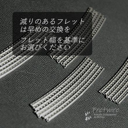 #7212 【フレットワイアー】 ジャンボ24本セット 2.7x1.0x65mm