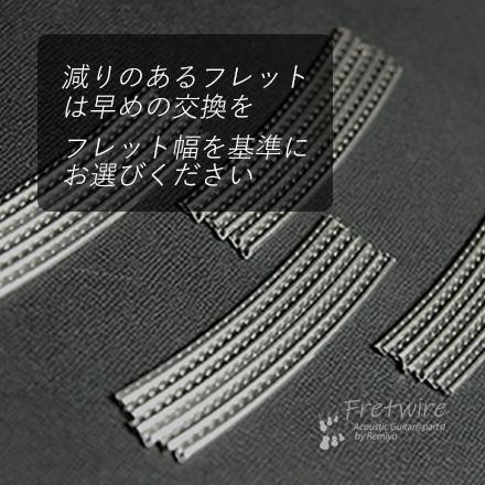 #7214 【フレットワイアー】  ジャンボ24本セット 2.9x1.3x65mm