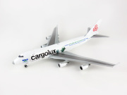 JC WINGS 1/400 747-400F ER カーゴルックス航空 Sea Life Trust Livery LX-ECV With Antenna