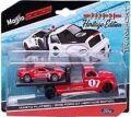 [予約]Maisto(マイスト) 1/64 2021 フォード GT & フラットベッド [レッド] ※並行輸入品