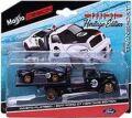 [予約]Maisto(マイスト) 1/64 2021 フォード GT & フラットベッド [ブラック] ※並行輸入品
