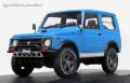 [予約]ignition model(イグニッションモデル) 1/18 スズキ ジムニー  (JA11) Lift Up ブルー ★生産予定数:120pcs