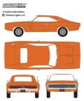 [予約]グリーンライト 1/18 1970 Dodge Charger - HEMI Orange