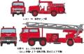 [予約]トミーテック 1/150 ザ・トラックコレクション 消防ポンプ車・はしご車セット