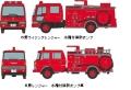 [予約]トミーテック 1/150 ザ・トラックコレクション 水槽付消防ポンプ車セット