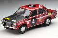 トミカリミテッドヴィンテージ 1/64 ノスタルジックヒーロー Vol.1 ダットサン ブルーバード1600SSS 1970年サファリラリー優勝車