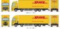トミーテック 1/150 ザ・トラックコレクション DHL大型トラックセット
